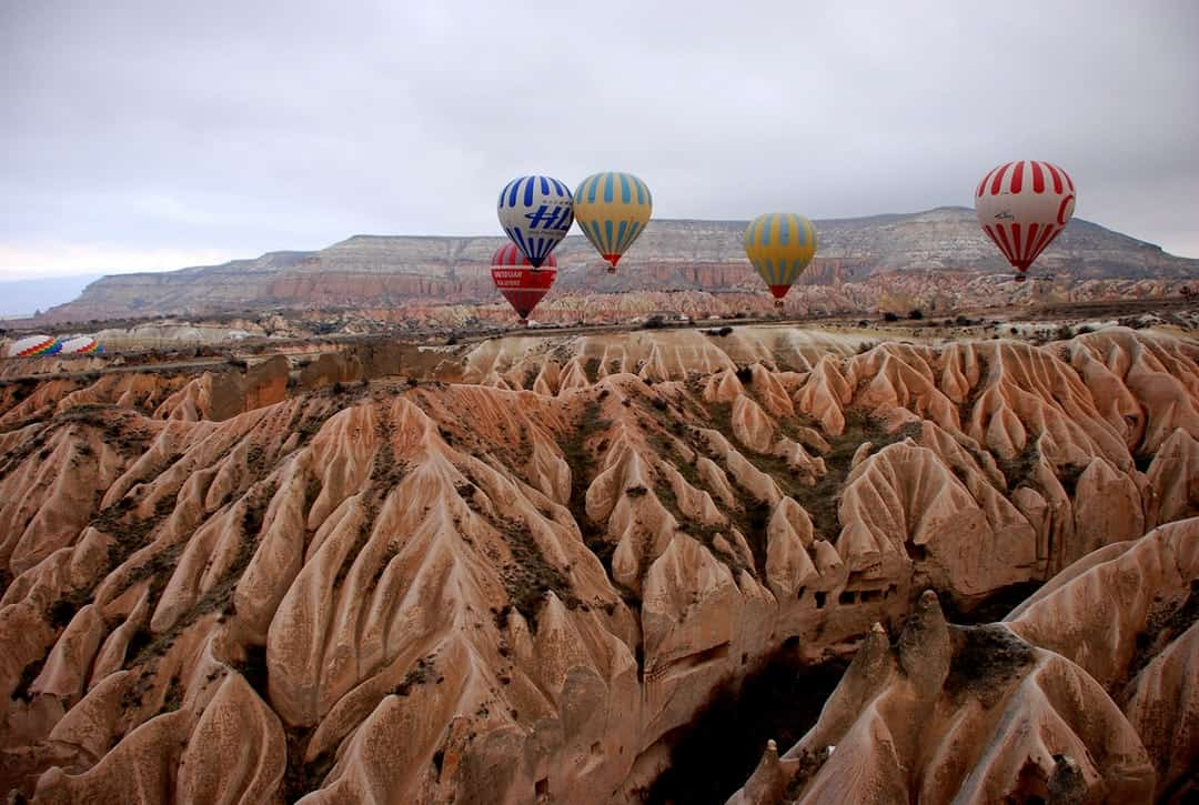 A large balloon in the desert